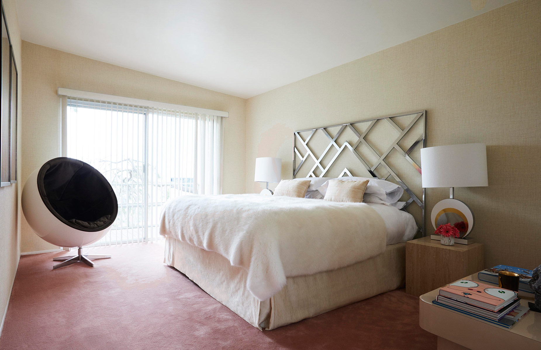 LA Bedroom Interior Design Caroline Legrand