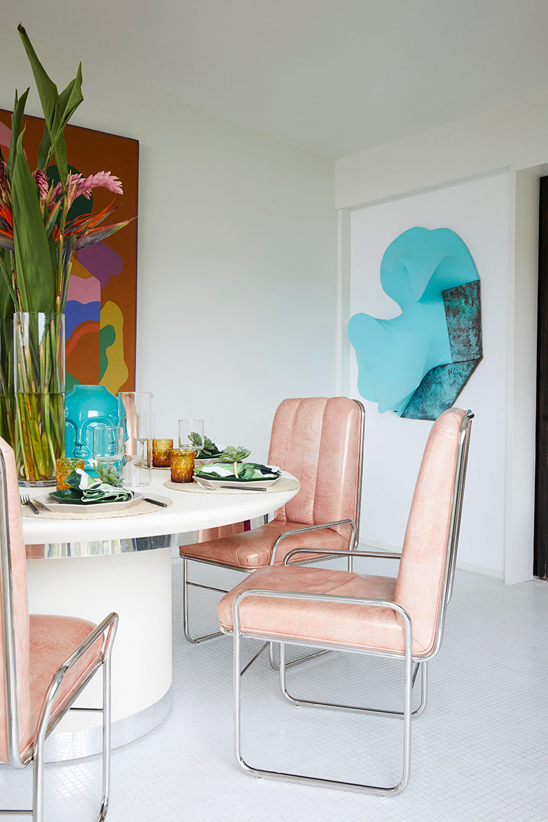 Dining room interior design detail by Caroline Legrand Design