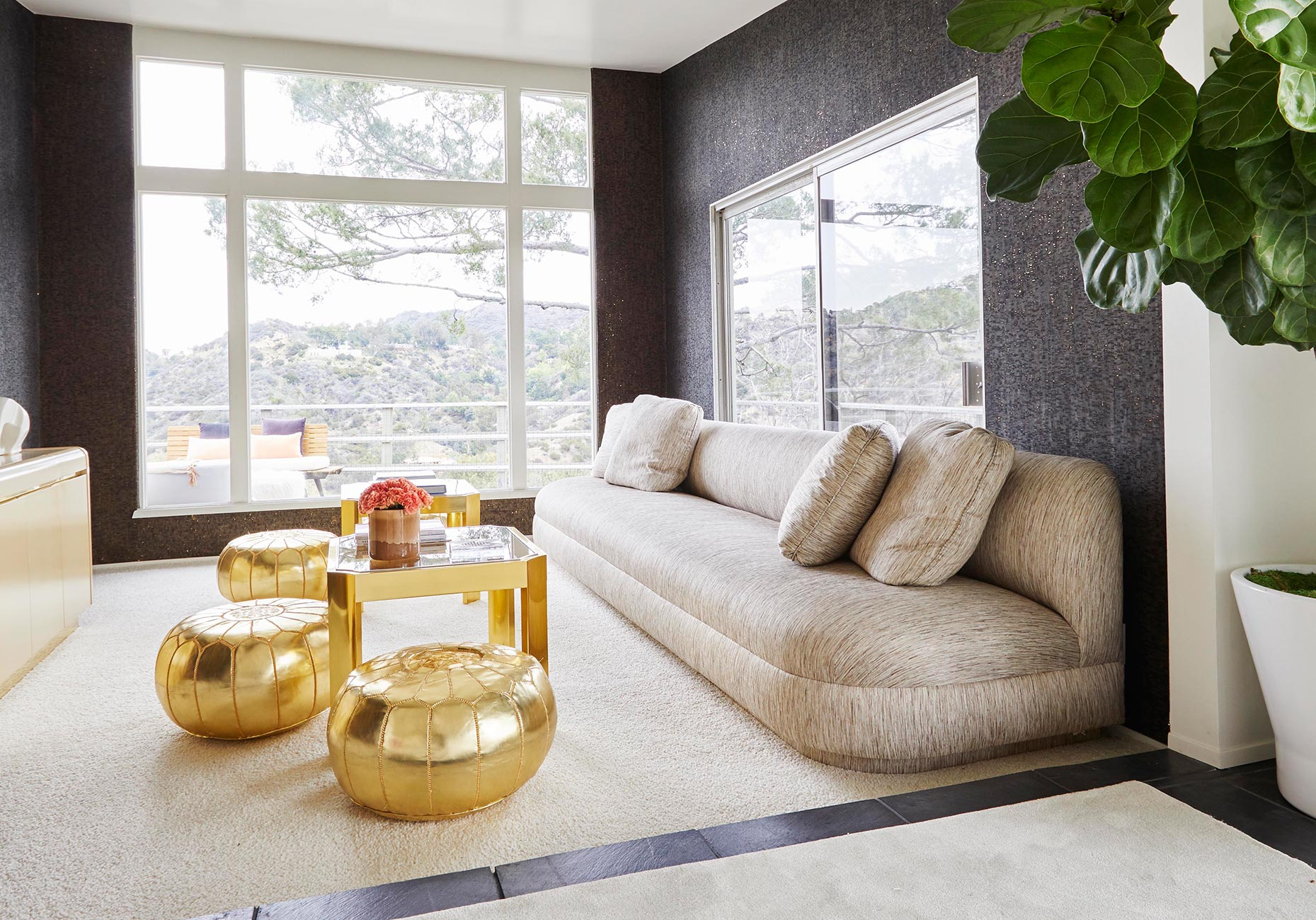 LA TV room interior design by Caroline Legrand Design